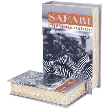 Bydlení Kufry, úložné boxy Signes Grimalt Zebra Safari 2U Boxy Book Multicolor