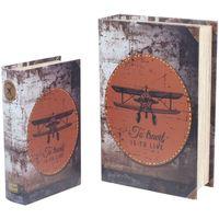 Bydlení Kufry, úložné boxy Signes Grimalt Retro 2U Boxy Paper Airplane Multicolor