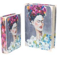 Bydlení Kufry, úložné boxy Signes Grimalt Kniha Frida 2U Boxy V Září Multicolor