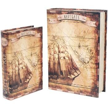 Bydlení Kufry, úložné boxy Signes Grimalt Paper Boat 2U Boxy V Září Marrón