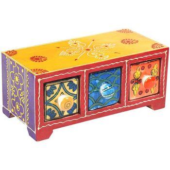 Bydlení Kufry, úložné boxy Signes Grimalt Especiero 3 Zásuvky Multicolor