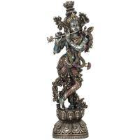 Bydlení Sošky a figurky Signes Grimalt Krishna Hrát Na Flétnu Plateado