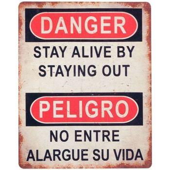 Bydlení Obrazy, plátna Signes Grimalt Nebezpečí Nástěnné Desky By Sigris Nebezpečí Multicolor