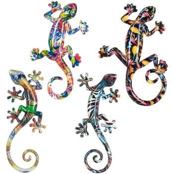 Bydlení Sošky a figurky Signes Grimalt Lagartos Small Resin 4U Multicolor