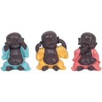 Bydlení Sošky a figurky Signes Grimalt Buddhové Nevidíte-Slyšet, Mluvit 3U Multicolor