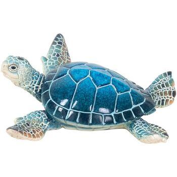 Bydlení Sošky a figurky Signes Grimalt Turtle Small Resin Azul