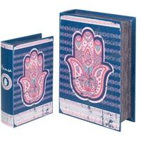 Bydlení Kufry, úložné boxy Signes Grimalt Fatima 2U Boxy Hand Book Azul