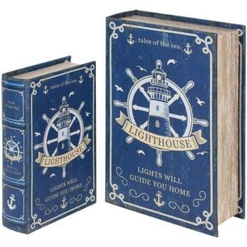Bydlení Kufry, úložné boxy Signes Grimalt Kniha Helm 2U Boxy V Září Azul