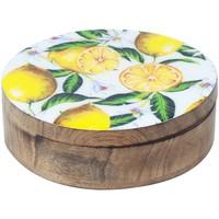 Bydlení Kufry, úložné boxy Signes Grimalt Citrony Round Box Multicolor