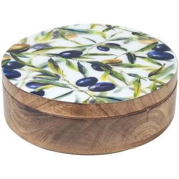 Bydlení Kufry, úložné boxy Signes Grimalt Olivy Round Box Multicolor