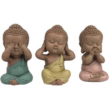 Bydlení Sošky a figurky Signes Grimalt Roztomilý Buddha Set 3 Jednotky Multicolor