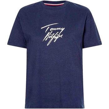Textil Ženy Trička s krátkým rukávem Tommy Hilfiger UW0UW03019 Modrý
