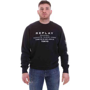 Textil Muži Mikiny Replay M3336 .000.22738G Černá