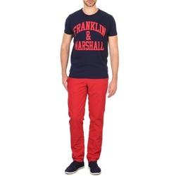 Textil Muži Mrkváče Franklin & Marshall GLADSTONE Červená