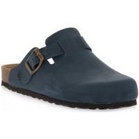 Boty Pantofle Bioline 1900 BLU INGRASSATO Blu