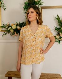 Textil Ženy Halenky / Blůzy Céleste MESANGE Žlutá / Bílá