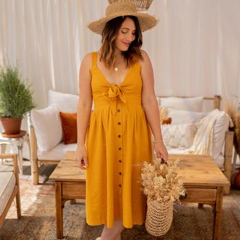 Textil Ženy Společenské šaty Céleste CAMOMILLE Žlutá