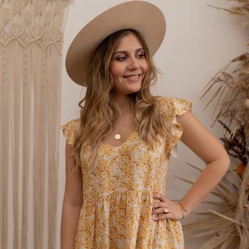 Textil Ženy Krátké šaty Céleste DAHLIA Žlutá / Bílá