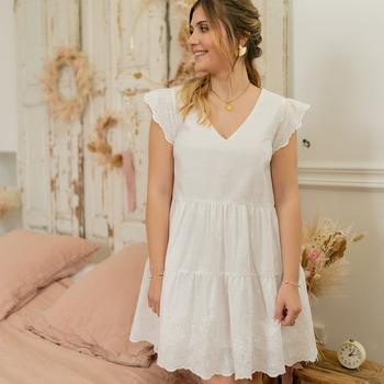 Textil Ženy Krátké šaty Céleste DAHLIA Bílá