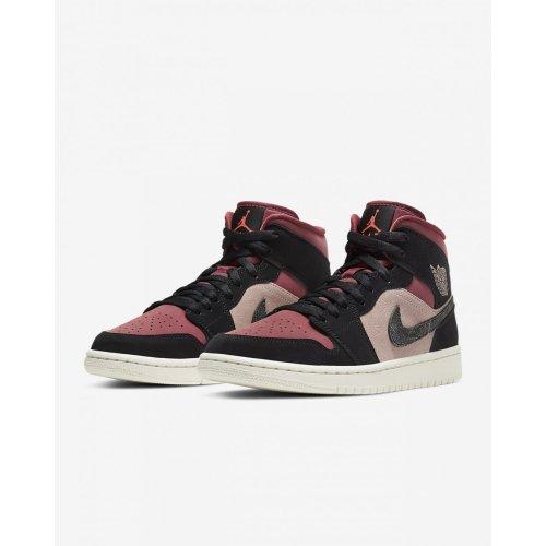 Boty Kotníkové tenisky Nike Air Jordan 1 Mid Canyon Rust Canyon Rust/Sail/Black/Light Pink
