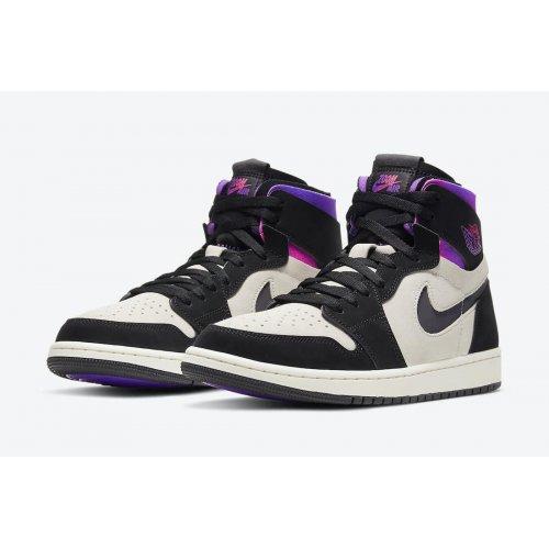 Boty Kotníkové tenisky Nike Air Jordan 1 Zoom x PSG White/Black-Psychic Purple-Hyper Pink