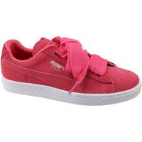 Boty Děti Nízké tenisky Puma Suede Heart Jr 365135-01 rouge