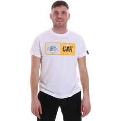 Textil Muži Trička s krátkým rukávem Caterpillar 35CC302 Bílý
