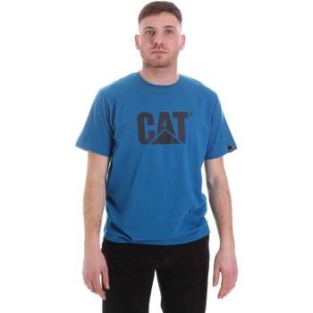 Textil Muži Trička s krátkým rukávem Caterpillar 35CC2510150 Modrý