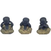 Bydlení Sošky a figurky Signes Grimalt Buddha Nemluví By Sigris Vidí By Sigris Hey Set 3U Negro