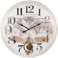 Bydlení Hodiny Signes Grimalt 58 World Clock Blanco