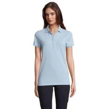 Textil Ženy Polo s krátkými rukávy Sols OWEN WOME Azul claro