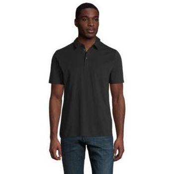 Textil Muži Polo s krátkými rukávy Sols OSCAR MEN Negro profundo