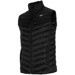 Textil Muži Prošívané bundy 4F KUMP001 Černé