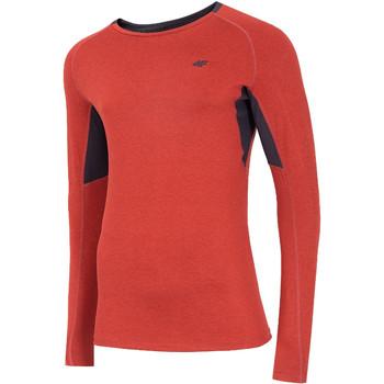Textil Muži Trička s dlouhými rukávy 4F Men's Functional Longsleeve Červená
