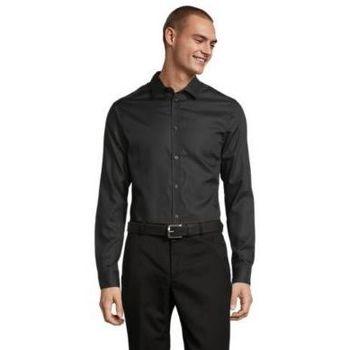 Textil Muži Košile s dlouhymi rukávy Sols BLAISE MEN Negro profundo