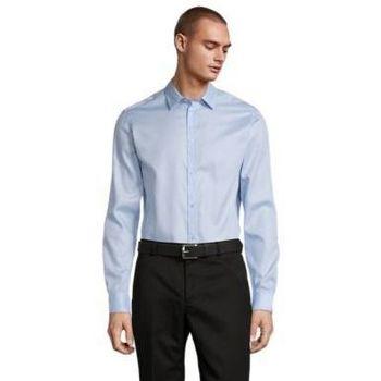Textil Muži Košile s dlouhymi rukávy Sols BLAISE MEN Azul claro