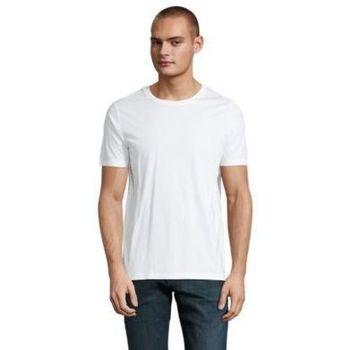 Textil Muži Trička s krátkým rukávem Sols LUCAS MEN Blanco ?ptimo