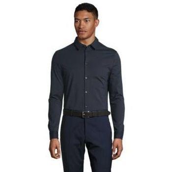 Textil Muži Košile s dlouhymi rukávy Sols BALTHAZAR MEN Negro profundo