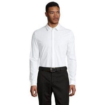 Textil Muži Košile s dlouhymi rukávy Sols BALTHAZAR MEN Blanco óptimo