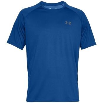 Textil Muži Trička s krátkým rukávem Under Armour Tech 2.0 Short Sleeve 1326413-400 Modrá