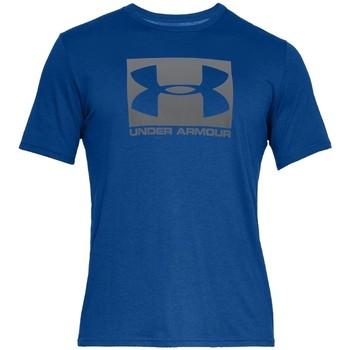 Textil Muži Trička s krátkým rukávem Under Armour Boxed Sportstyle SS Tee 1329581-400 Modrá