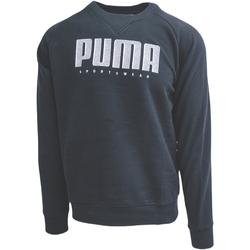 Textil Muži Teplákové bundy Puma Athletics Crew Fl Černá