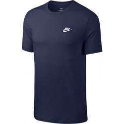Textil Muži Trička s krátkým rukávem Nike Club Tee Modrý