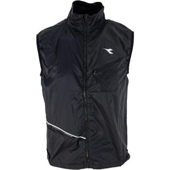 Textil Muži Svetry / Svetry se zapínáním Diadora Sport Černá