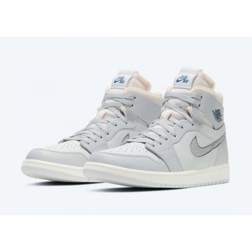 Boty Kotníkové tenisky Nike Air Jordan 1 Zoom Confort London Photon Dust/Light Smoke Grey-Grey Fog