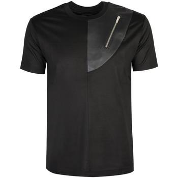 Textil Muži Trička s krátkým rukávem Les Hommes  Černá
