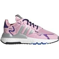 Boty Ženy Nízké tenisky adidas Originals Nite Jogger W Šedé, Růžové