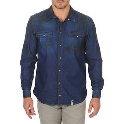 Textil Muži Košile s dlouhymi rukávy Freeman T.Porter CORWEND DENIM Modrá