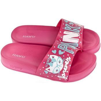 Boty Ženy pantofle Wink Dámske tmavo-ružové šľapky PARRI ružová