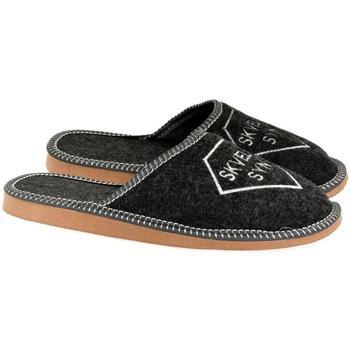 Boty Muži Papuče John-C Pánske tmavo-sivé papuče SKVELÝ SYN tmavosivá